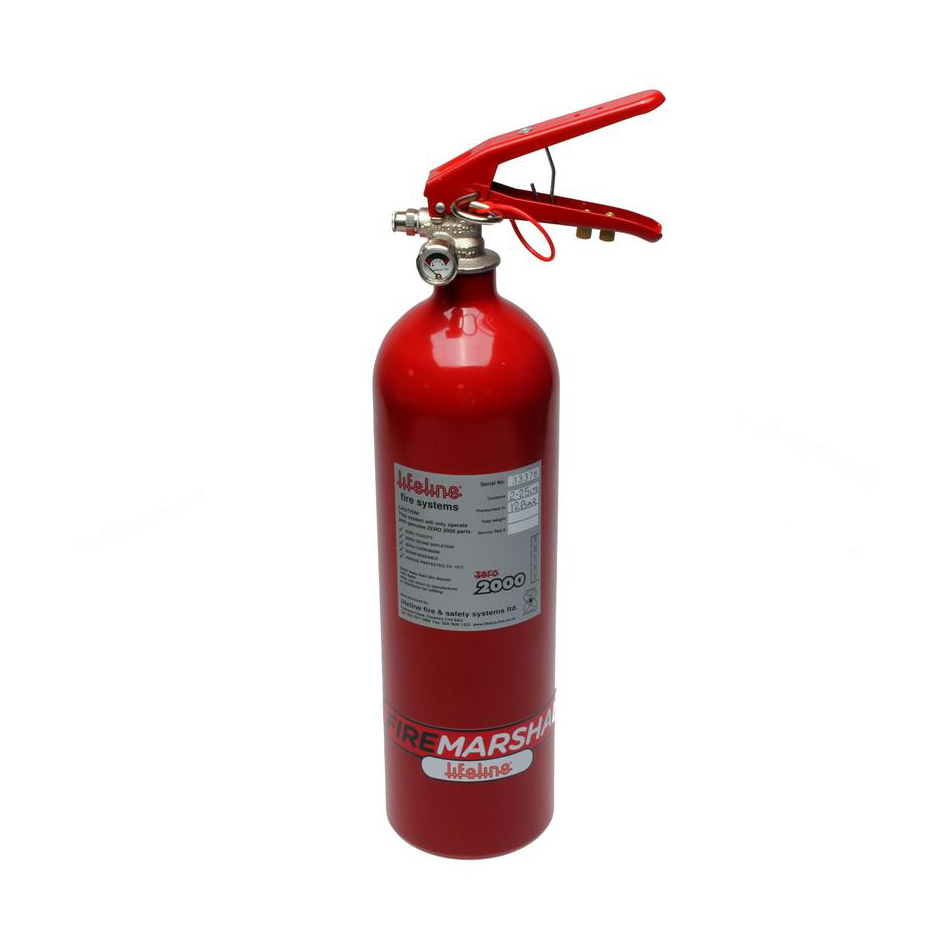 Lifeline USA 101-225-001-B Fire Suppression System Bottle, Club Fire Marshall, 5.0 lb, Aluminum, Red, Each