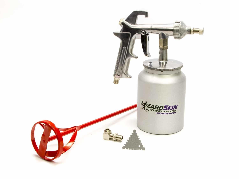 Lizard Skin 50125 Paint Gun, Super Pro Application Kit, Siphon Feed, 1 qt Cup, Mil Gauge / Stir Paddle, Lizard Skin Spray On Barriers, Kit
