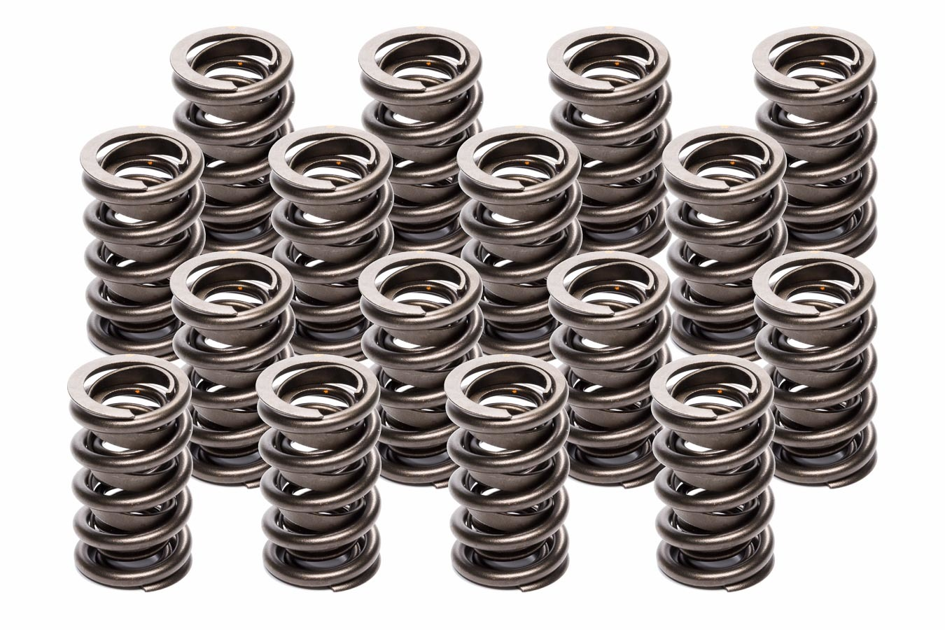 Lunati 74650-16 Valve Spring, Dual Spring / Damper, 506 lb/in Spring Rate, 1.170 in Coil Bind, 1.514 in OD, Set of 16