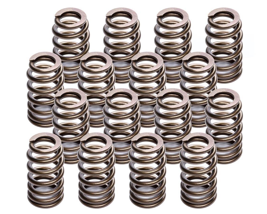 Lunati 74818-16 Valve Spring, Ovate Beehive Spring, 313 lb/in Spring Rate, 1.140 in Coil Bind, 1.290 in OD, Set of 16