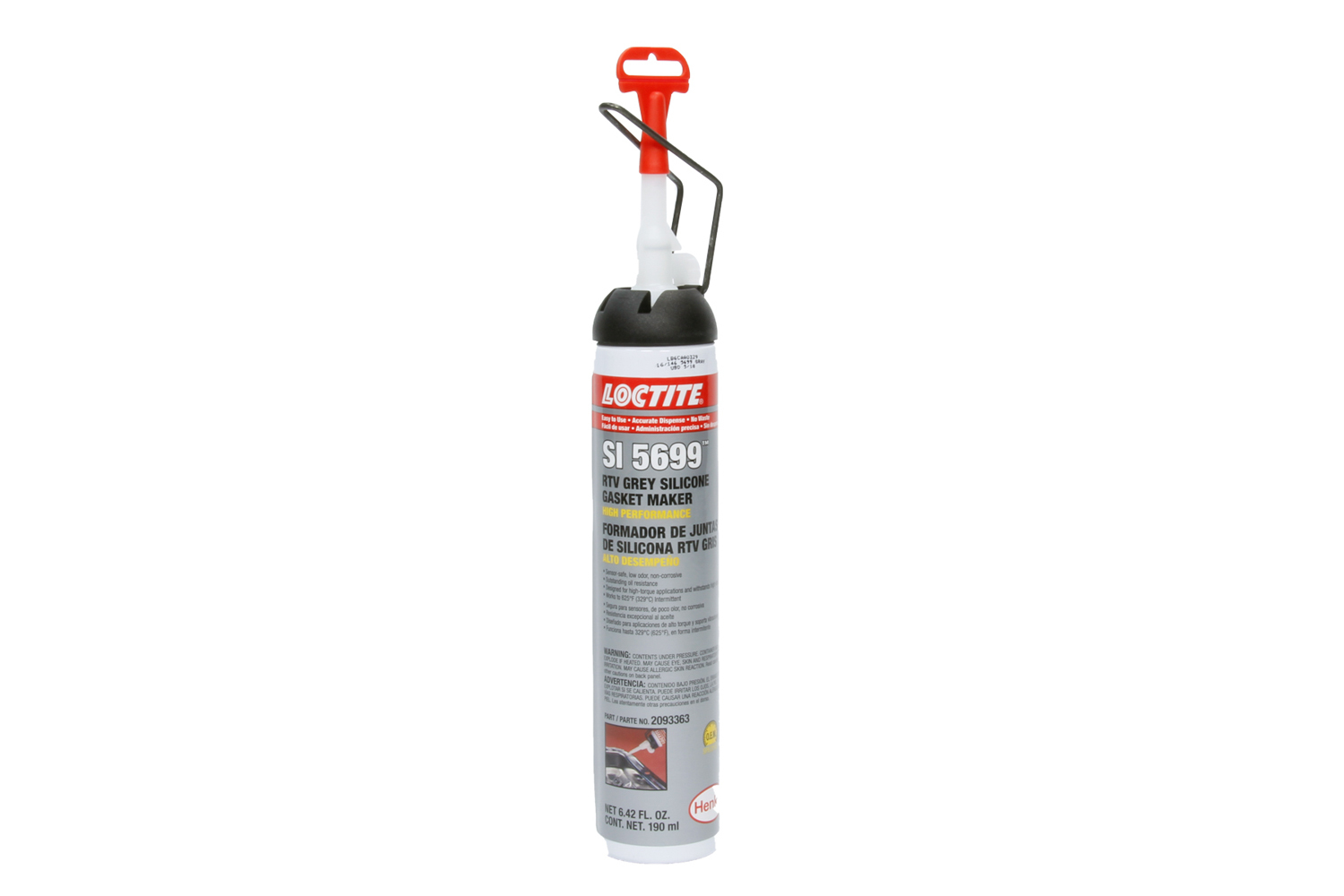 Loctite 2093363 Sealant, Gray RTV 5699, Silicone, 190 ml Aerosol, Each