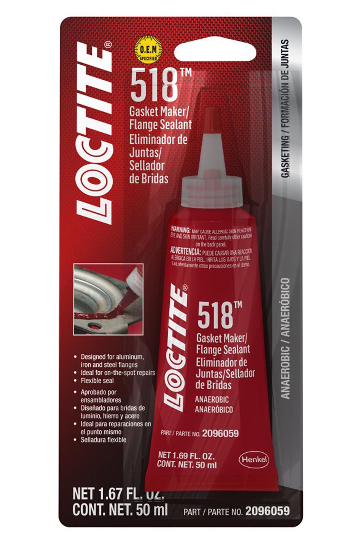Loctite 2096059 Sealant, Gasket Maker 518, Silicone, Anaerobic, 50 ml Tube, Each