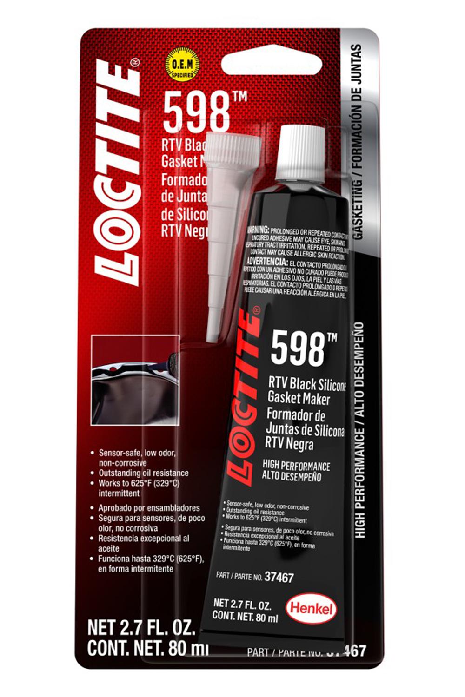 Loctite 491985 Sealant, Black RTV 598, Silicone, 80 ml Tube, Each