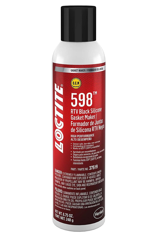 Loctite 495075 Sealant, Black RTV 598, Silicone, 8.75 oz Aerosol, Each