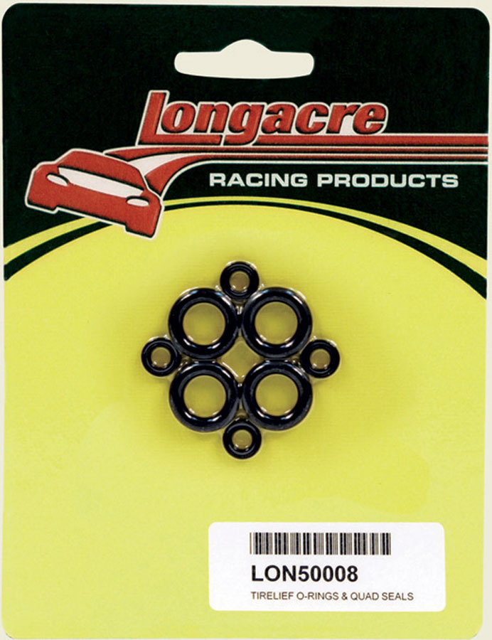 Longacre 50008 O-Ring, Rubber, Longacre Tire Pressure Relief Valve, Set of 4