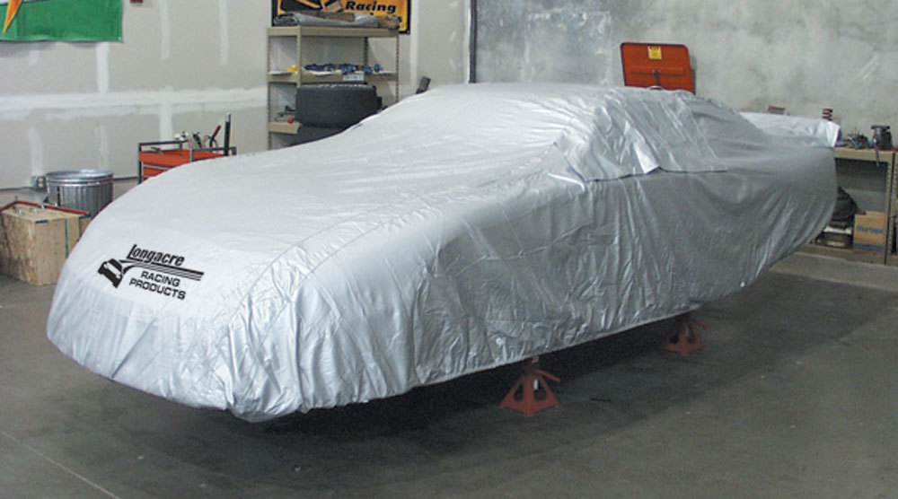 Longacre 52-11150 Car Cover, Moisture Resistant, Soft Liner, Zippered Window, Heat Reflective, Cloth, Silver, Late Model, Each