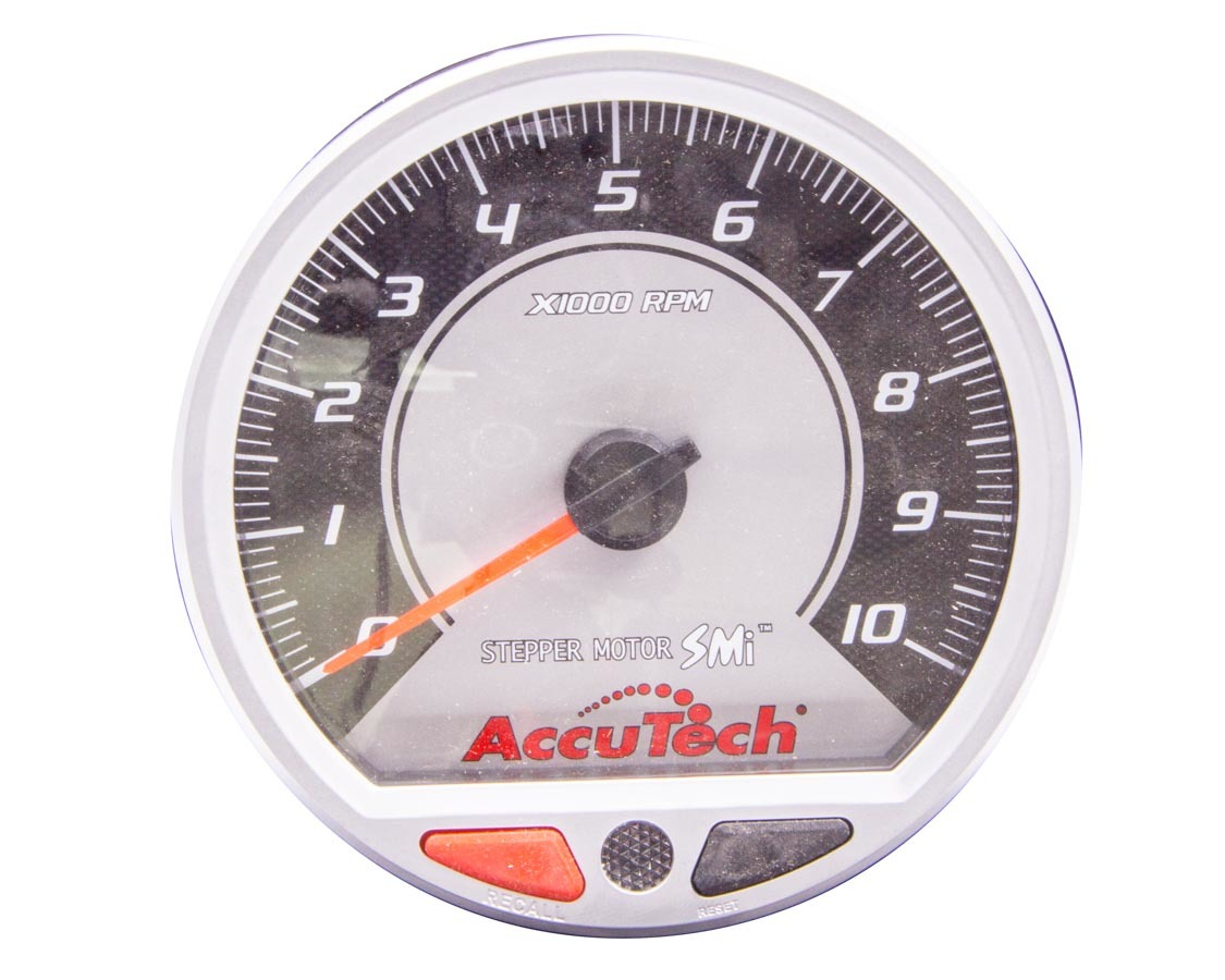 Tach 4-1/2in AccuTech Stepper Motor Silver