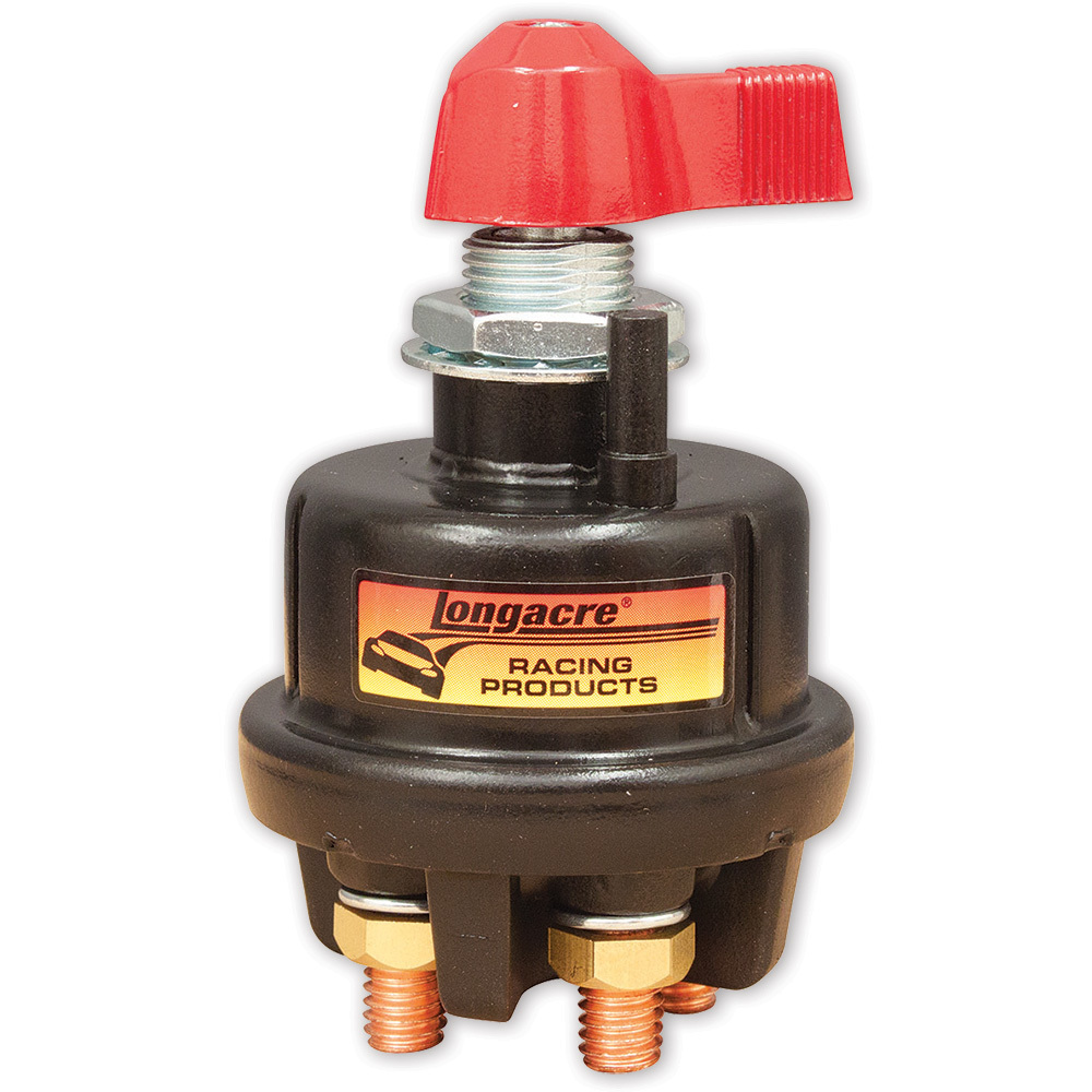 Longacre 52-45789 Battery Disconnect, Rotary Switch, Panel Mount, 175 amp, 6-36V, 3/8 in Stud, 3/4 in Hole, Alternator Posts, Each