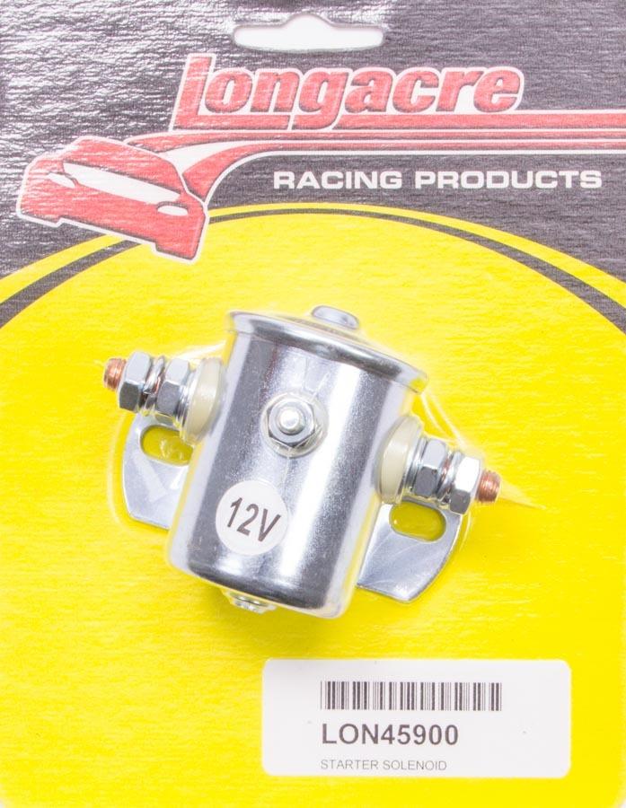 Longacre 52-45900 Starter Solenoid, Heavy Duty, Steel, Zinc Oxide, Universal, Each