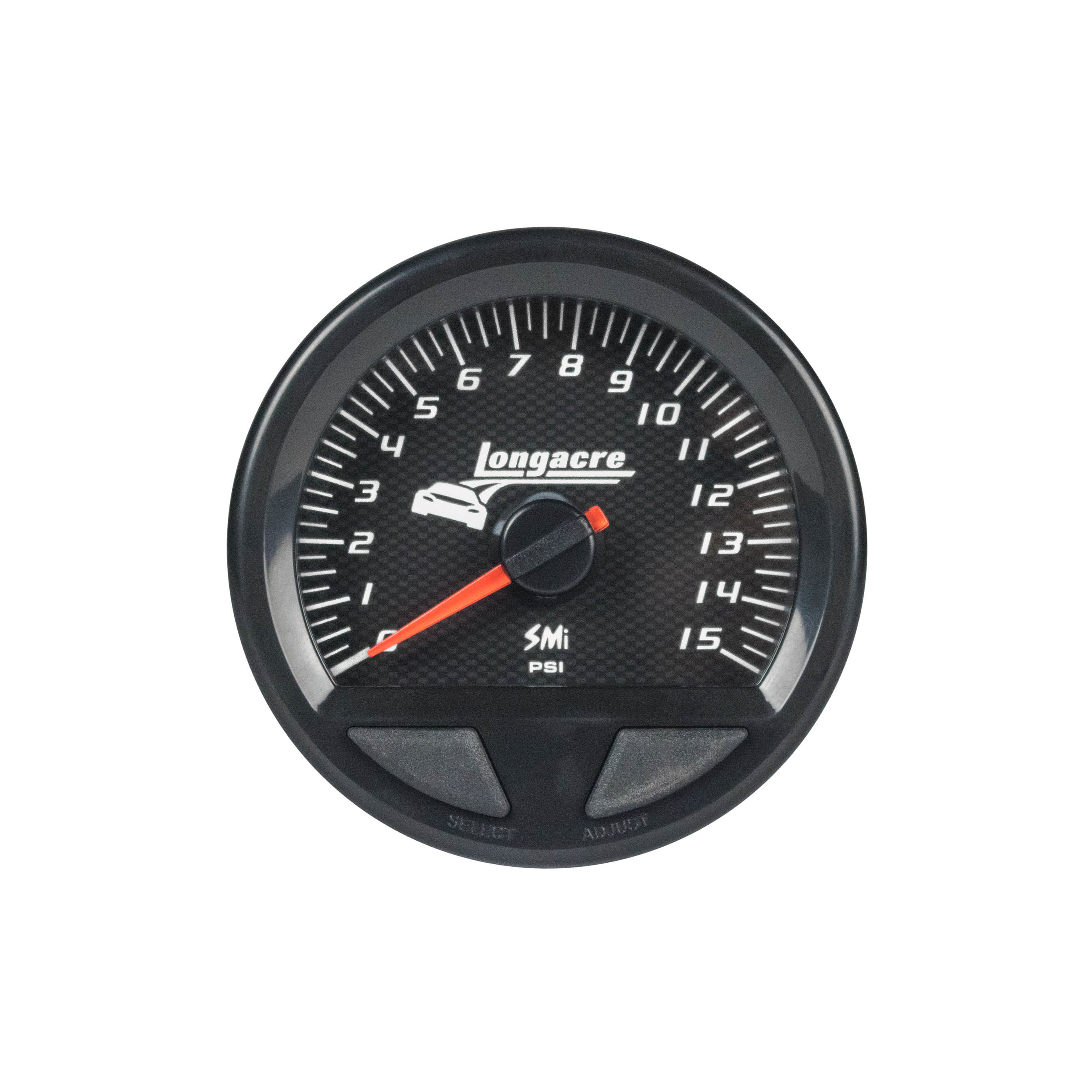 Waterproof SMI Fuel Pressure Gauge 0-15psi