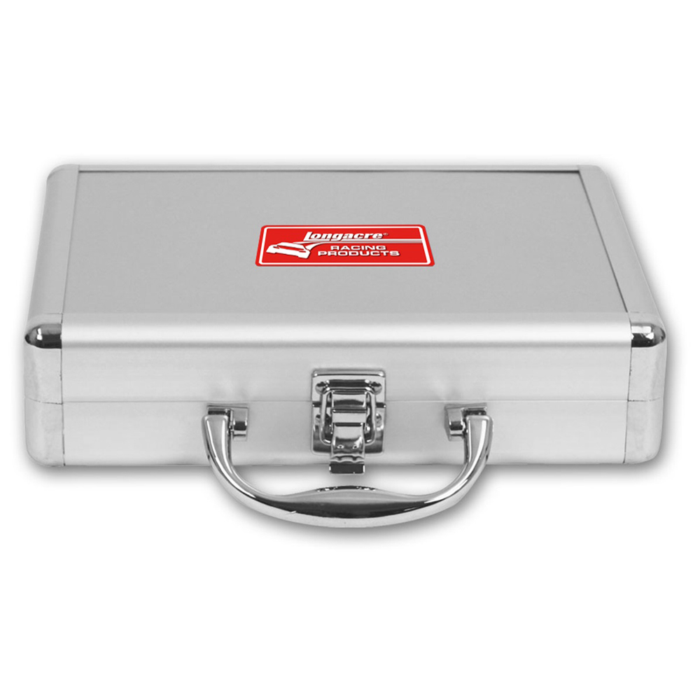 Longacre 52-50518 Universal Storage Case, 9-1/2 x 7 x 1-3/4 in, Single Compartment, Cloth Lined, Plastic, Silver, Each