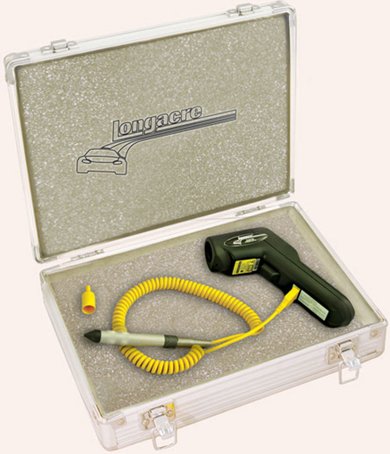 Longacre 52-50620 Pyrometer, Infrared Laser, 0-1400 Degrees Fahrenheit, Tire Probe / Carrying Case Included, Kit