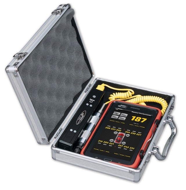 Longacre 52-50650 Pyrometer, Wireless Tire Probe, Display 12 Temps at Once, 99 Set Memory, Tablet / Carrying Case Included, Kit