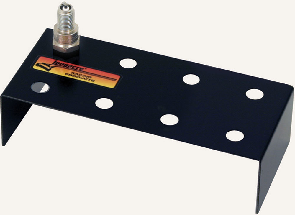Longacre 52-50885 Spark Plug Holder, 8 Hole, Two Row, Aluminum, Black Powder Coat, Each