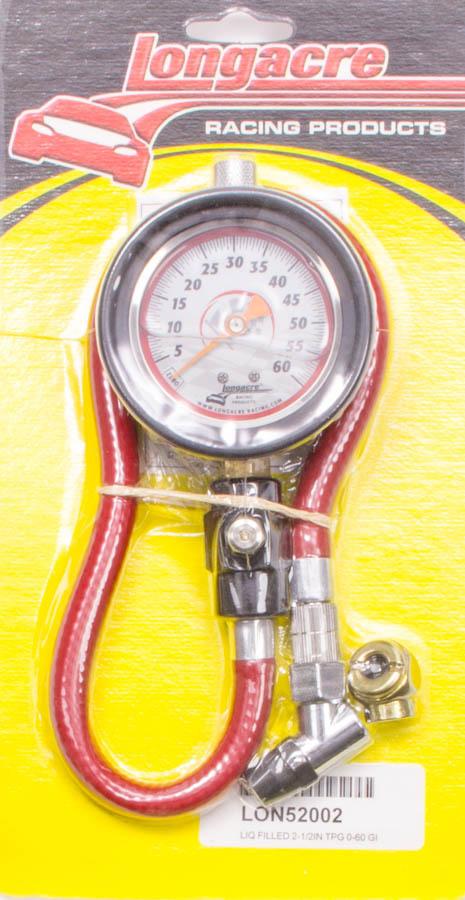 Longacre Standard 2 GID Tire Gauge 0-60 by 1 lb 52004