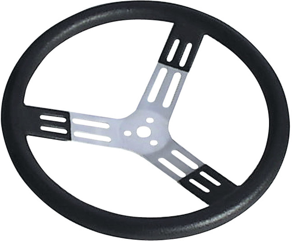 15in. Steering Wheel Black With Bumps Nat. Fi
