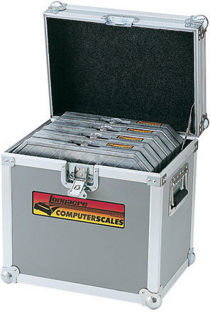 Longacre 52-72292 Scale Pad Storage Case, 16 x 11-5/8 x 15 in, Carpet Lined, Holds Four Scale Pads, Aluminum Frame, Each