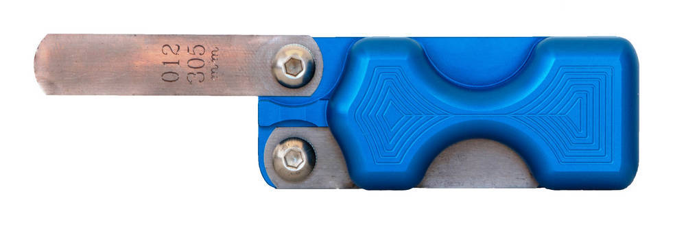 Dual Feeler Gauge Holder - Blue