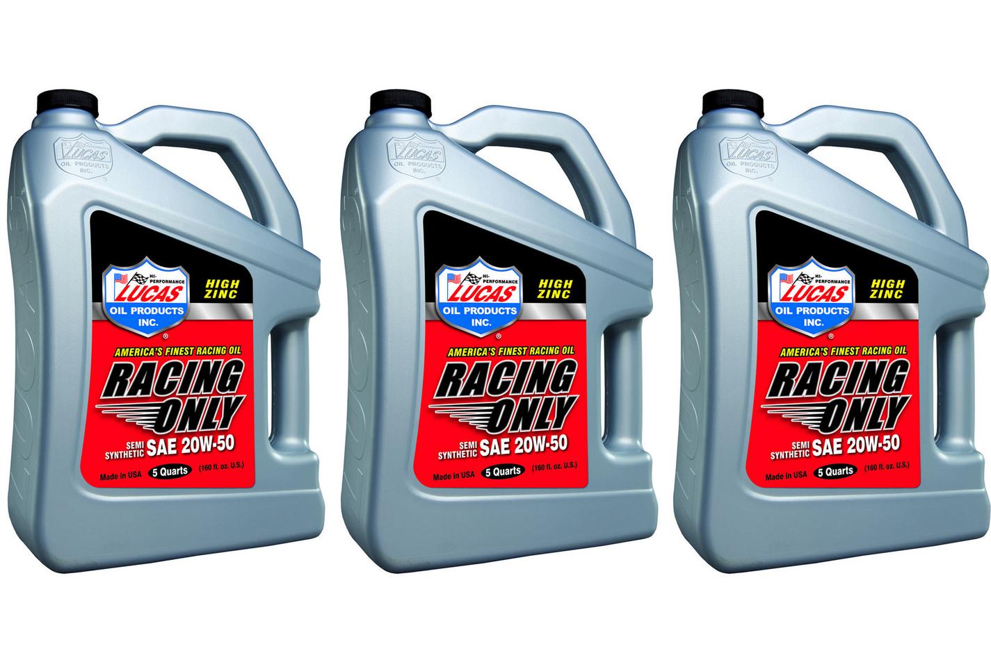 20w50 Semi Synthetic Racing Oil 3 x 5 Quart