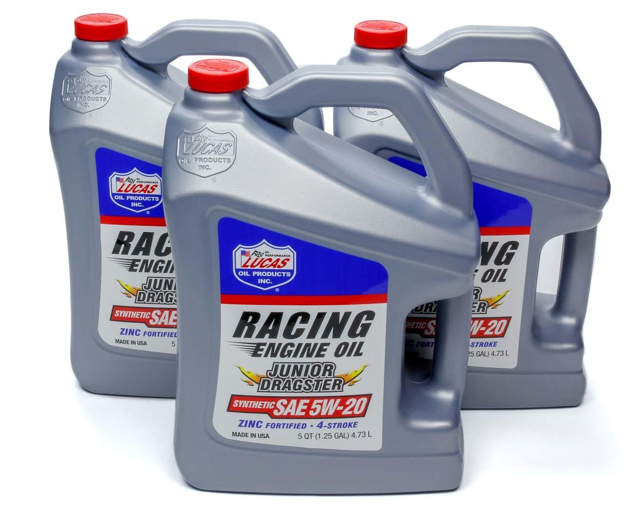Jr. Dragster-Karting Oil 5w20 Case 3 x 5 Qt Jug