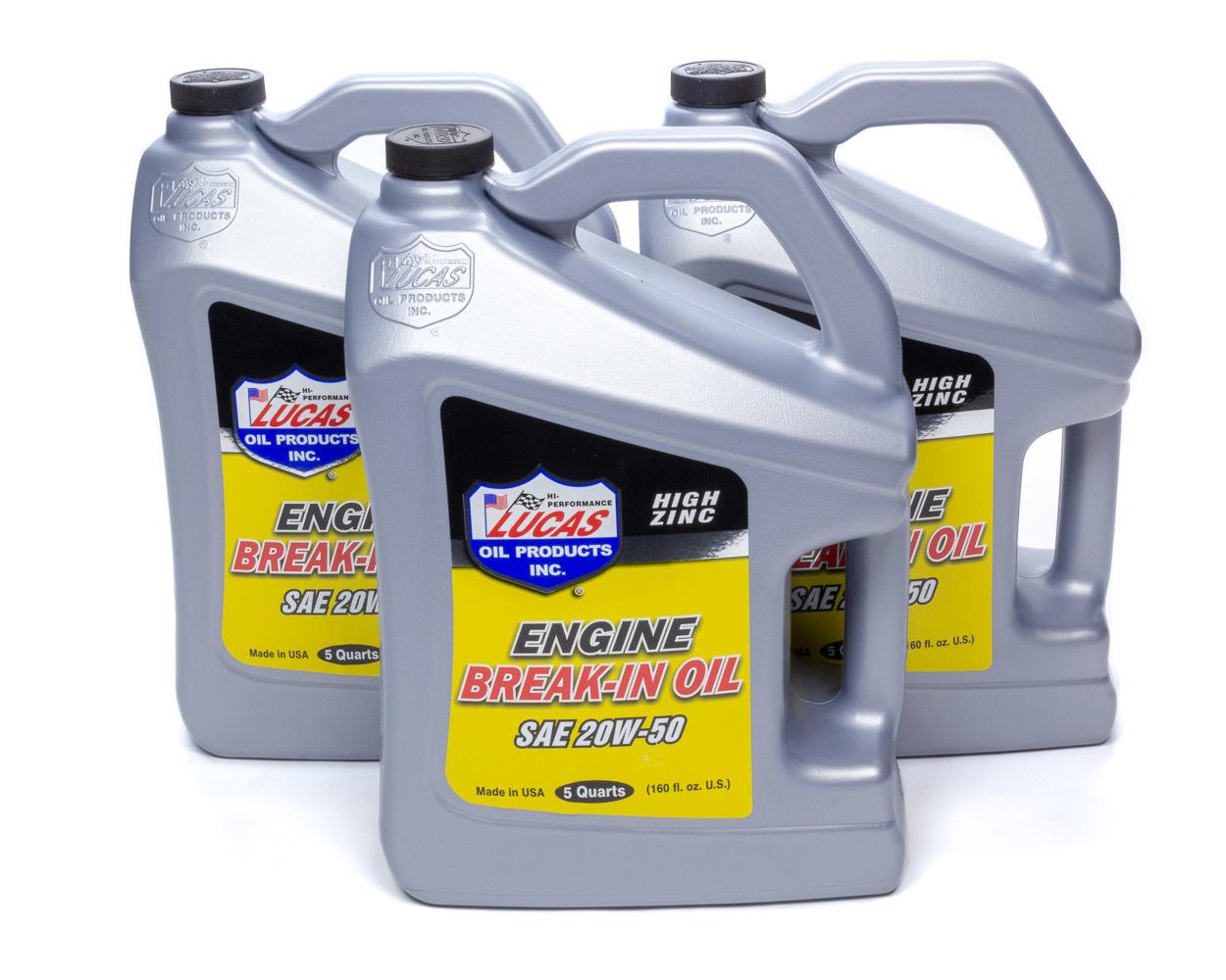 SAE 20W-50 Break-In Oil Case 3 X 5 Quart Bottle