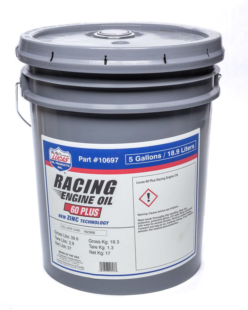 SAE 60 Plus Racing Motor Oil 5 Gallon Pail