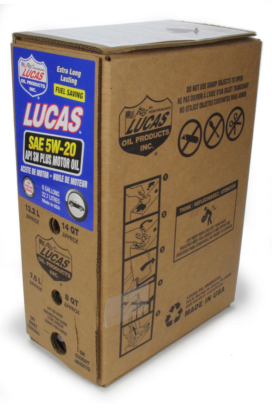 SAE 5W20 Motor Oil 6 Gallon Bag In Box