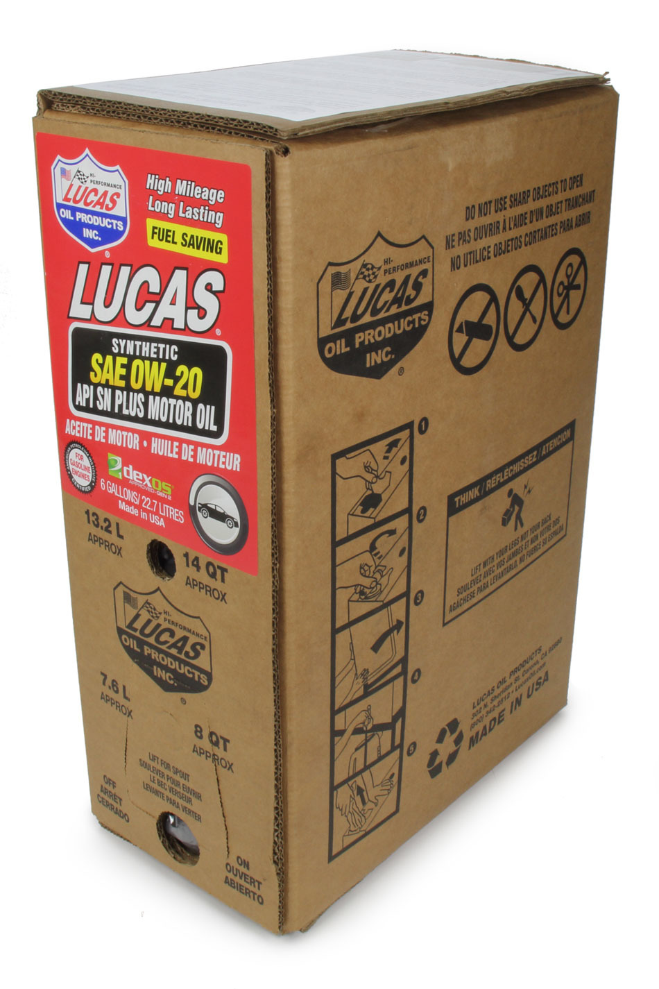 Synthetic SAE 0W20 Oil 6 Gallon Bag In Box