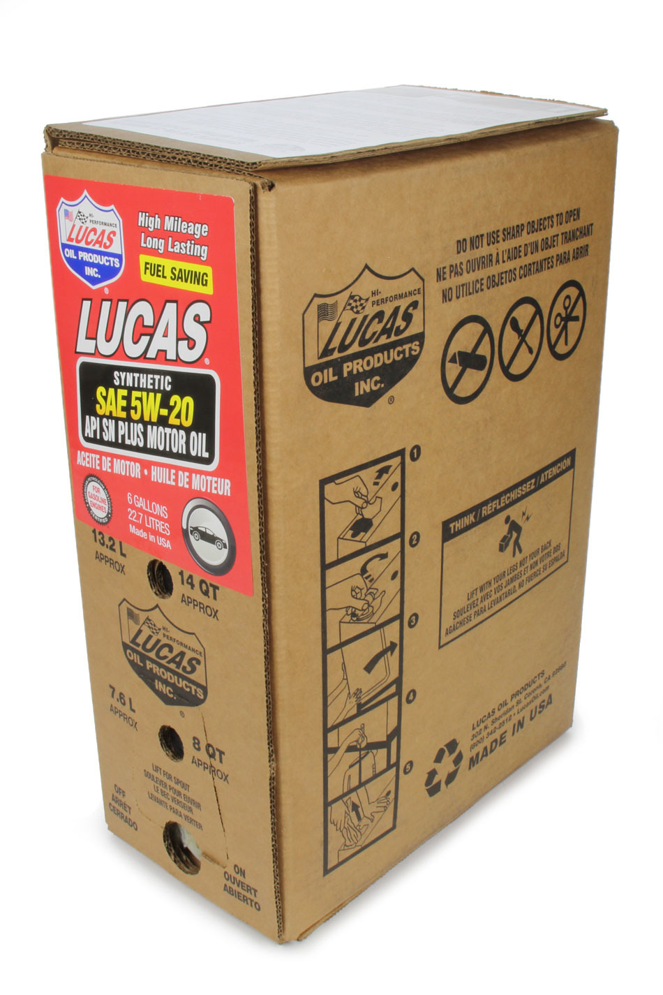 Synthetic SAE 5W20 Oil 6 Gallon Bag In Box