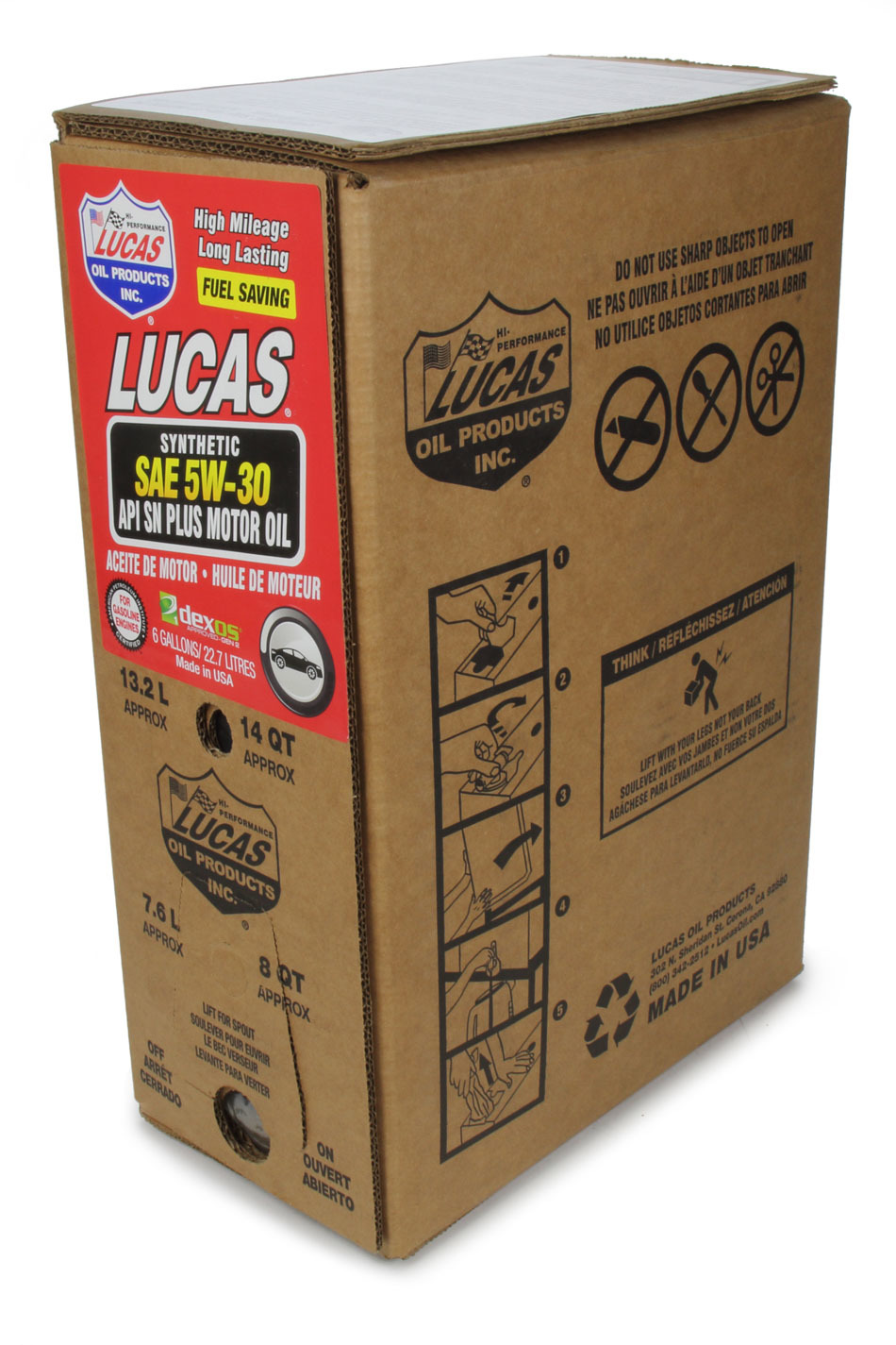 Synthetic SAE 5W30 Oil 6 Gallon Bag In Box