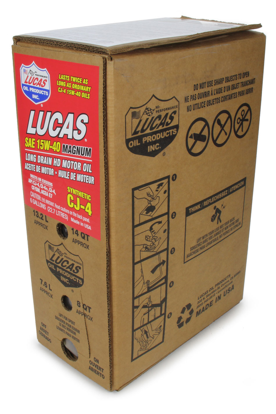 Synthetic SAE 15W40 CJ-4 Oil 6 Gallon Bag In Box