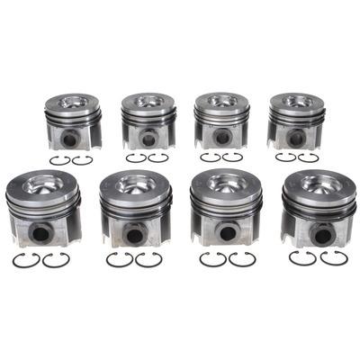 Piston Set w/Rings Ford 6.0L Diesel 8pk