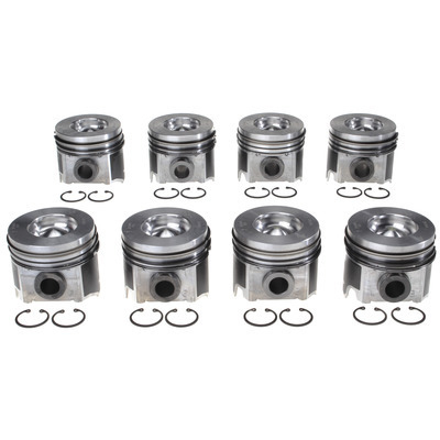 Piston Set w/Rings Ford 6.0L Diesel 8pk