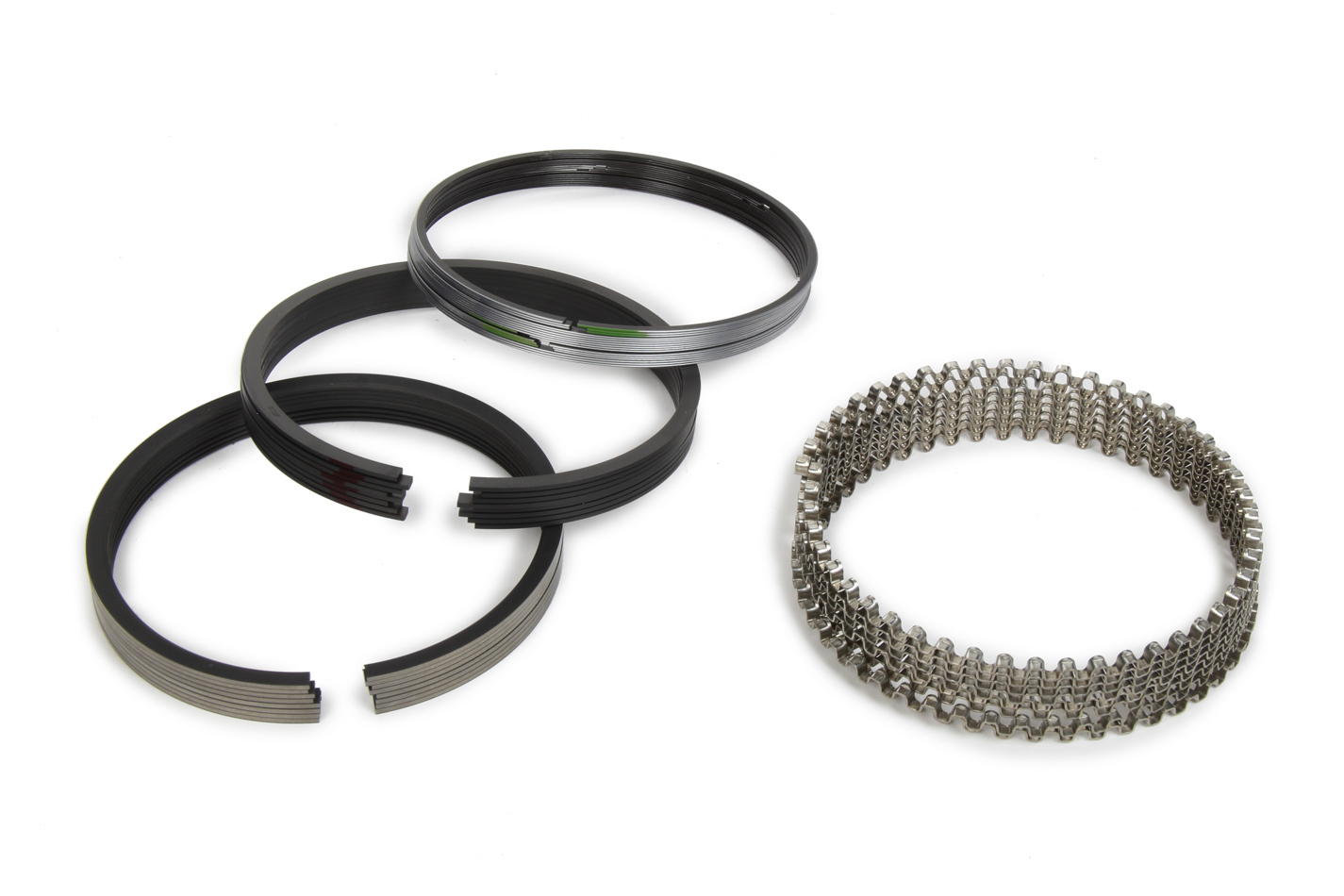 Michigan 77 315-0005.065 Piston Rings, 4.060 in Bore, File Fit, 1/16 x 1/16 x 3/16 in Thick, Low Tension, Plasma Moly, 8 Cylinder, Kit