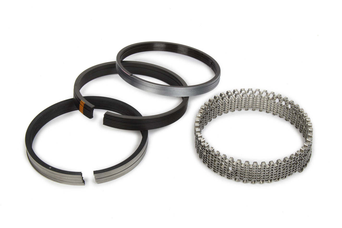 Michigan 77 315-0032.035 Piston Rings, 4.155 in Bore, File Fit, 1/16 x 1/16 x 3/16 in Thick, Standard Tension, Plasma Moly, 8 Cylinder, Kit
