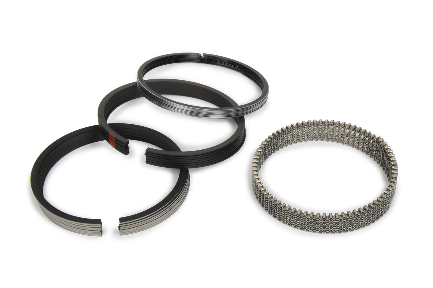 Michigan 77 315-0033.030 Piston Rings, 4.030 in Bore, 1/16 x 1/16 x 1/8 in Thick, Standard Tension, Plasma Moly, 8 Cylinder, Kit
