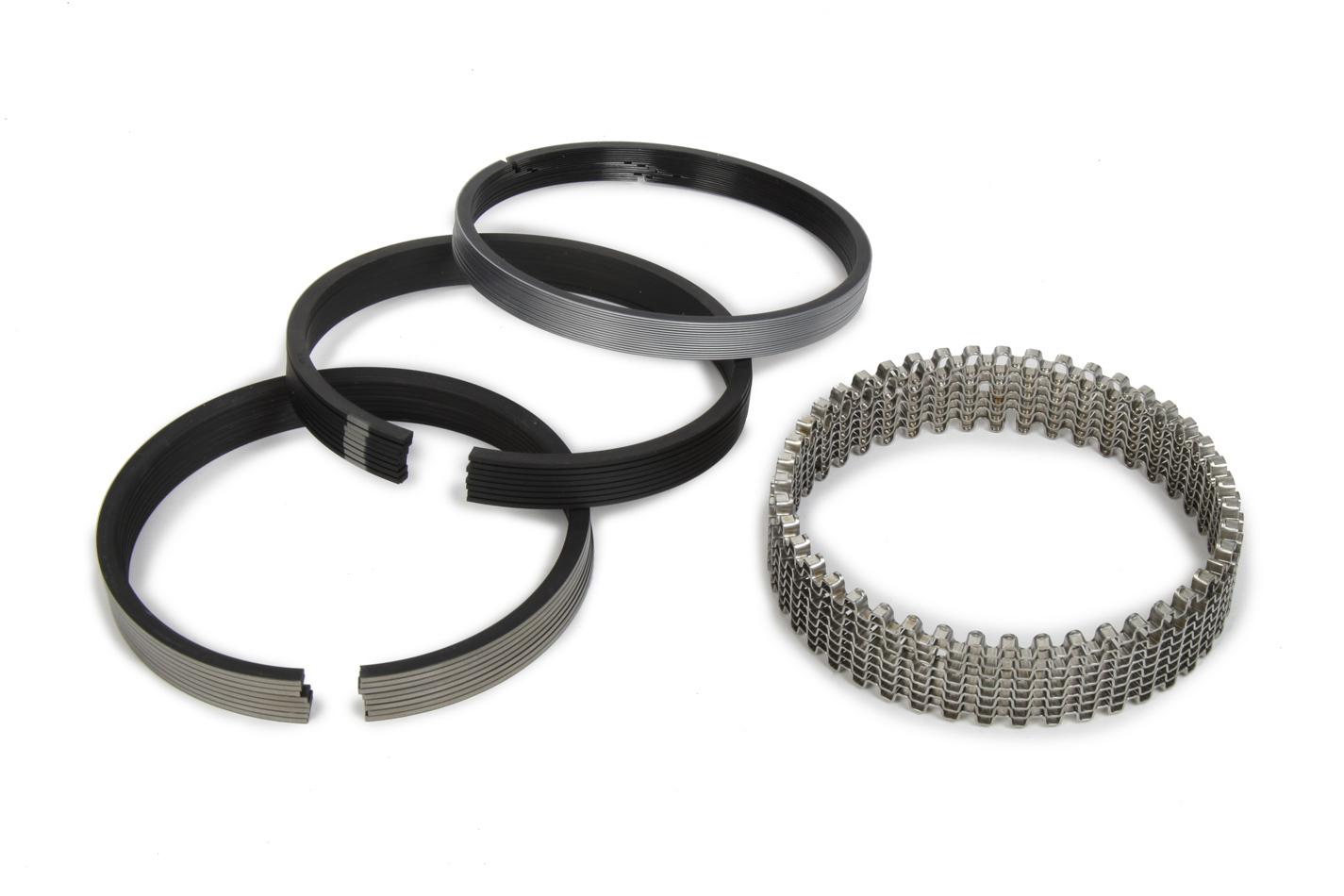 Michigan 77 315-0036.045 Piston Rings, 4.040 in Bore, File Fit, 1/16 x 1/16 x 3/16 in Thick, Standard Tension, Plasma Moly, 8 Cylinder, Kit