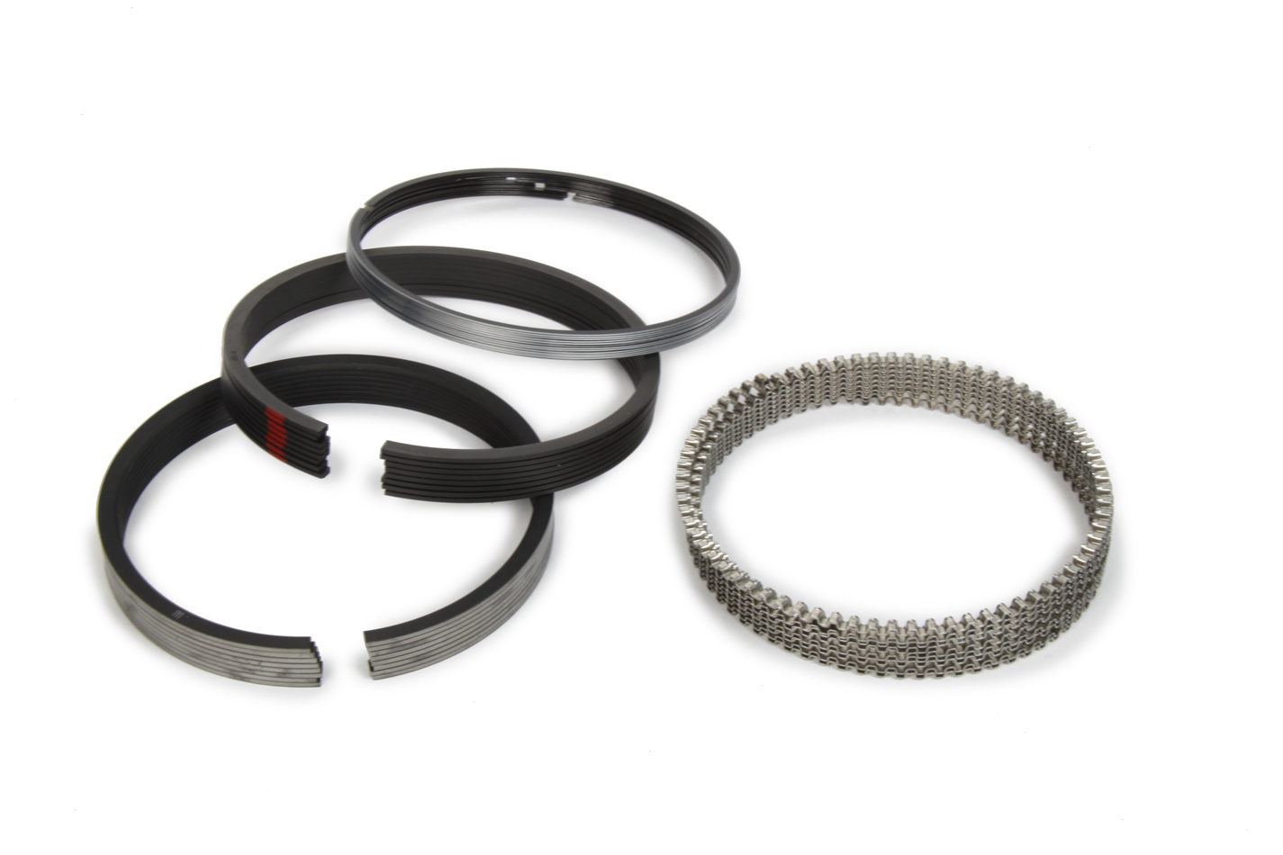 Michigan 77 315-0049.030 Piston Rings, 4.030 in Bore, 1/16 x 1/16 x 3.0 mm Thick, Low Tension, Plasma Moly, 8 Cylinder, Kit