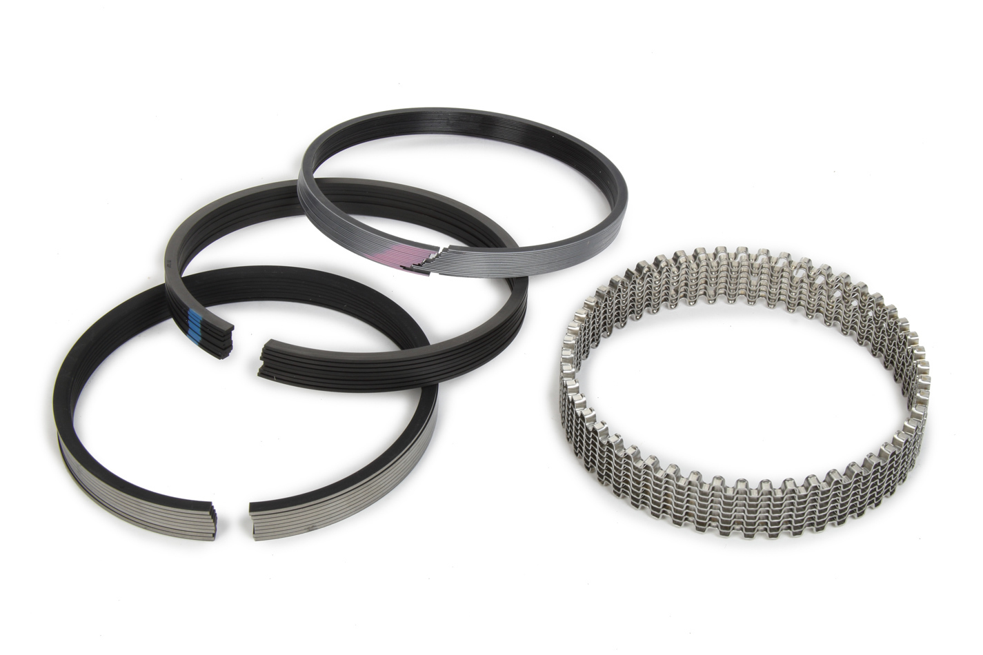 Michigan 77 315-0053.035 Piston Rings, 4.530 in Bore, File Fit, 1/16 x 1/16 x 3/16 in Thick, Standard Tension, Plasma Moly, 8 Cylinder, Kit