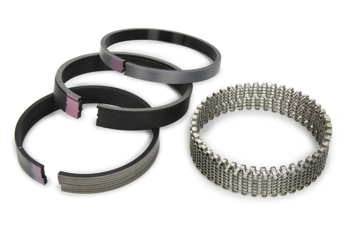 Michigan 77 40564CP.060 Piston Rings, Original, 4.060 in Bore, 5/64 x 5/64 x 3/16 in Thick, Standard Tension, Moly, 8 Cylinder, Kit