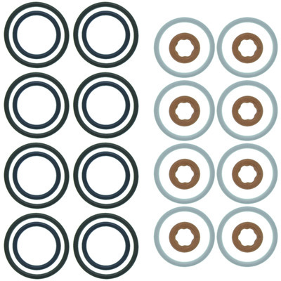 Michigan 77 GS33442 O-Ring, Crush Washers Included, Rubber, 6.0 L, Ford PowerStroke Fuel Injector Seal, Kit