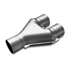 Stainless Y-Pipe Dual 3in Inlet/3in Outlet