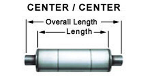 Stainless Muffler 3in Center In / Out