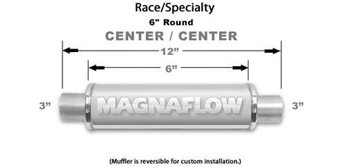 Stainless Muffler 3in Center In/Out