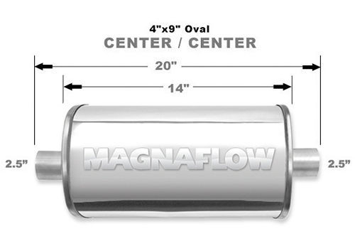 Stainless Muffler 2.5in Center In/Out