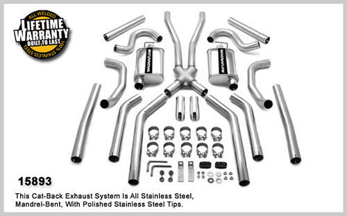 64-67 GM A Body 2.5in Dual Exhaust System