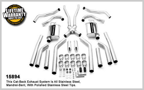 68-72 GM A Body 2.5in Dual Exhaust System