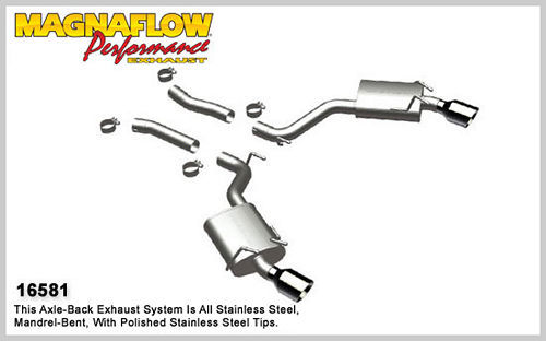 10-12 Camaro 6.2L Axle Back Exhaust System
