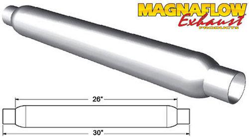 Glass Pack Muffler 2in Aluminized Large