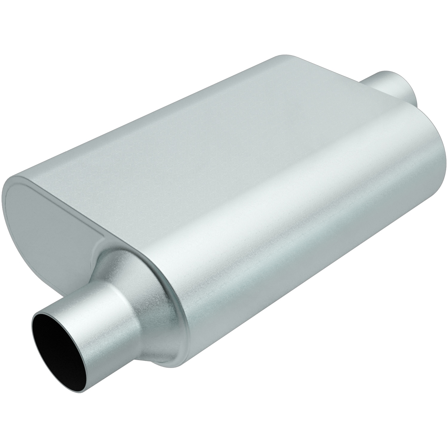 Rumble Aluminizd Muffler 2.25in Offset In/Center